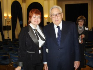 Marina Romanova and Henry Kissinger