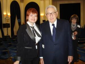 Marina Romanova and Henry Kissinger
